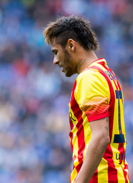 Neymar profile view in FC Barcelona