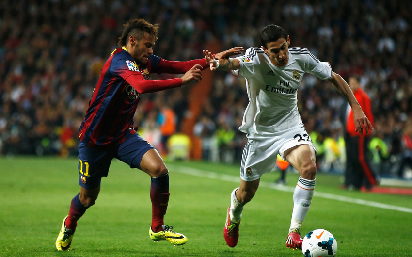 Neymar vs Angel Di María in Real Madrid vs Barcelona
