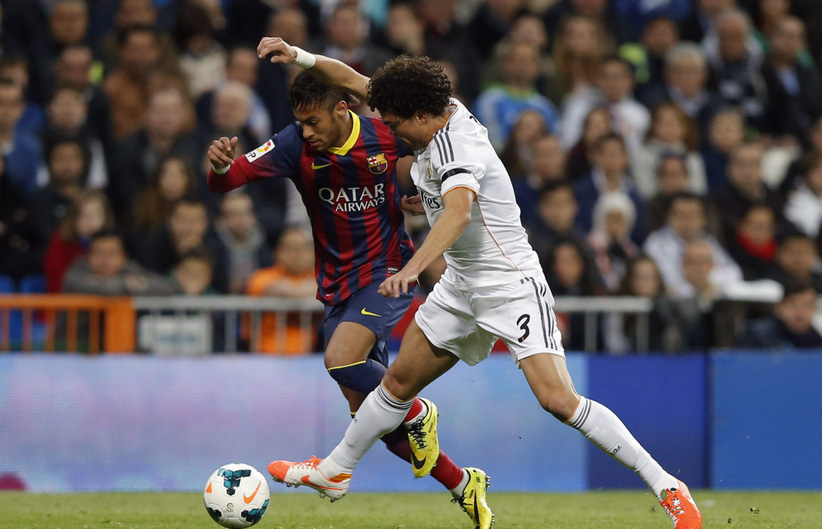 Neymar vs Pepe in Real Madrid vs Barcelona