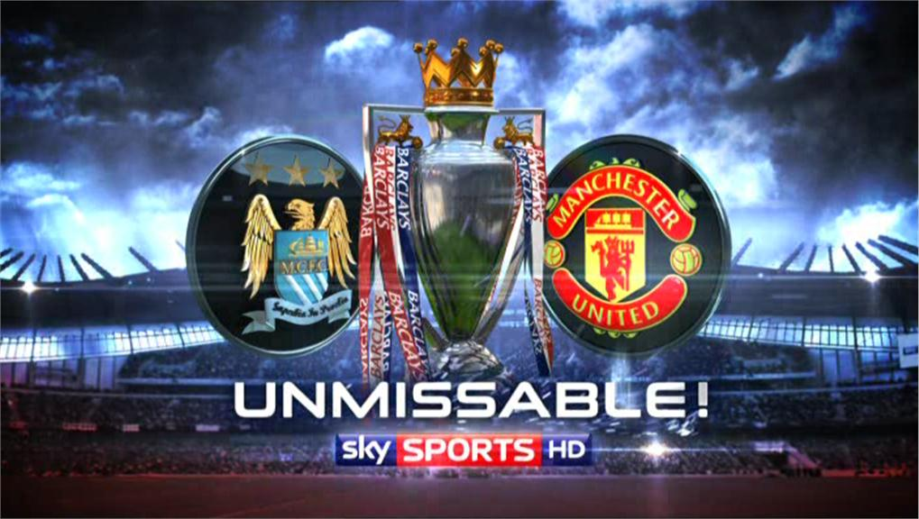 Unmissable Sky Sports poster - Manchester City vs Manchester United