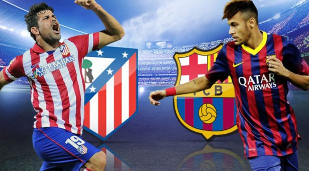 Atletico Madrid and Barcelona measure strengths in the Calderón