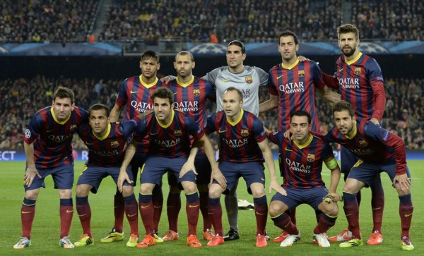 Barcelona line-up vs Atletico Madrid, in the UEFA Champions League quarter-finals