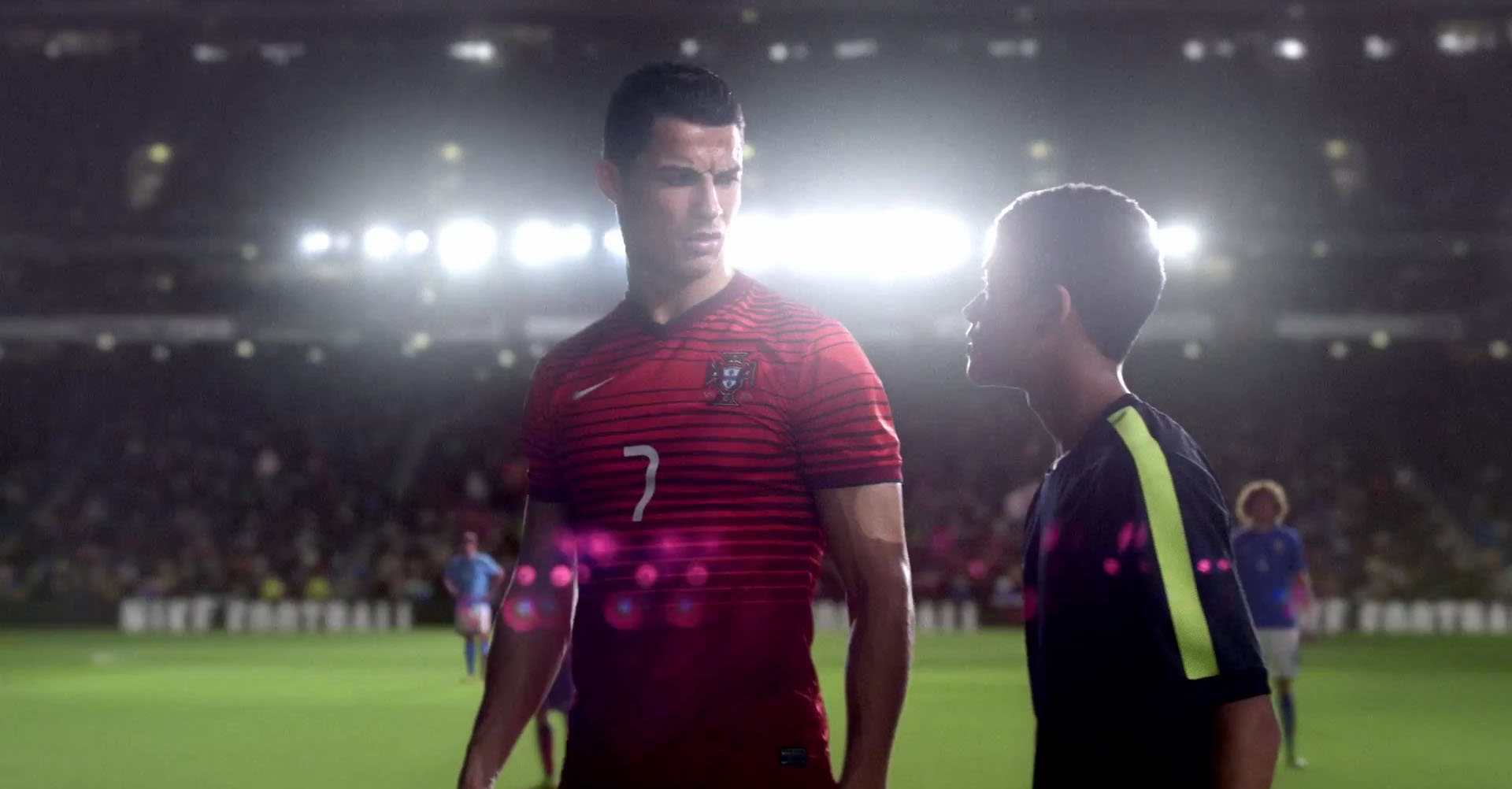 Cristiano Ronaldo stepping out for a fan to take the penalty-kick in the ad for Nike