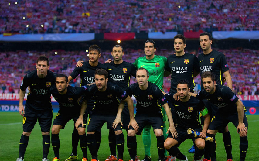 FC Barcelona line-up vs Atletico Madrid