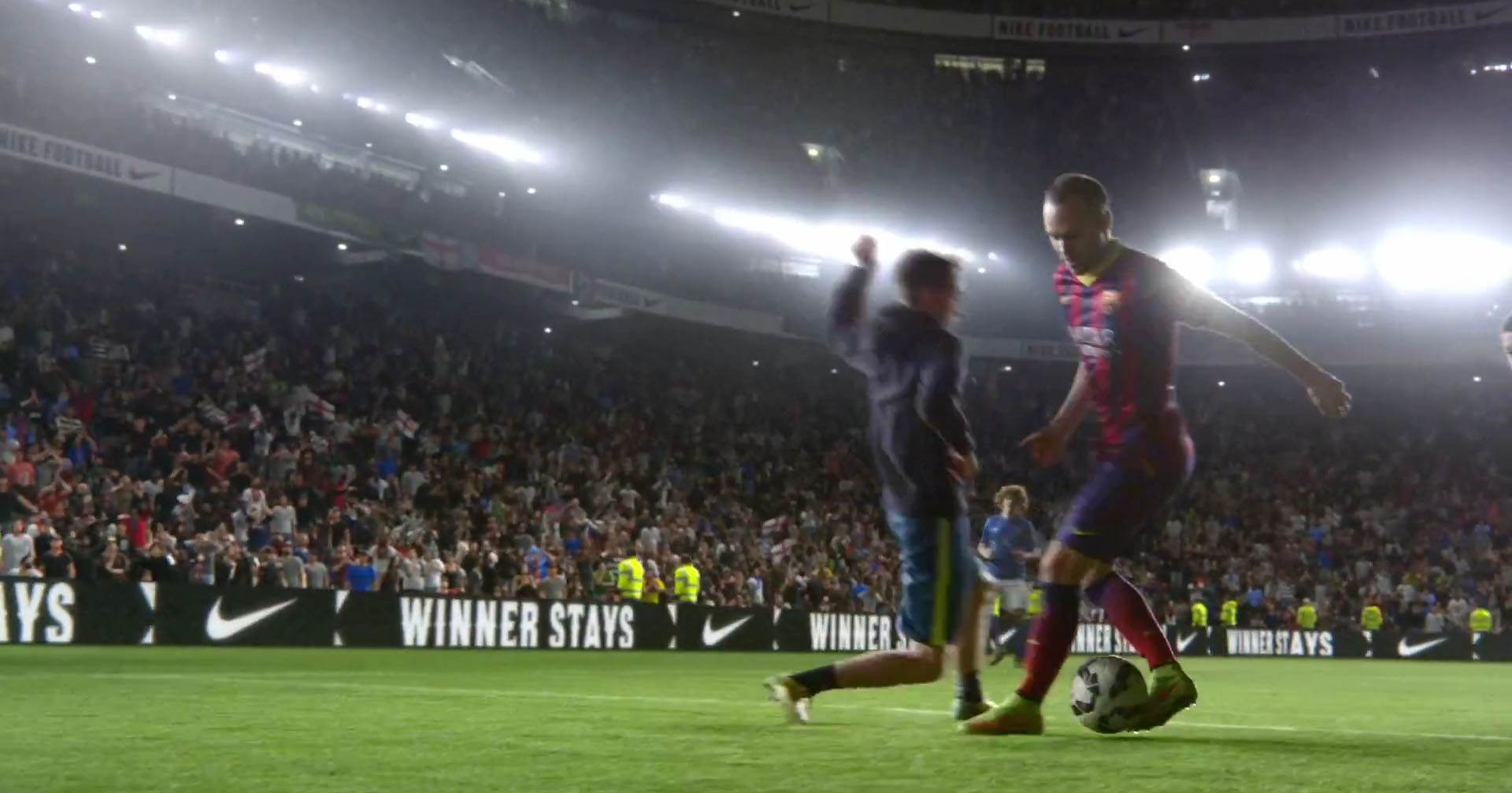 Iniesta dribbling trick in Nike's new video ad