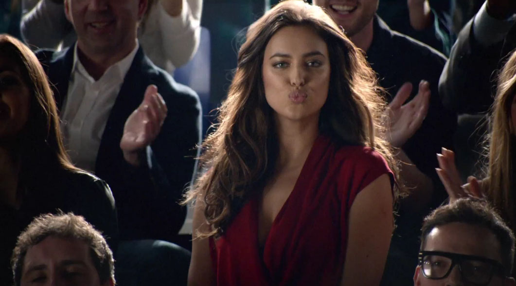 Irina Shayk blowing kisses away to Cristiano Ronaldo, in Nike's new video ad