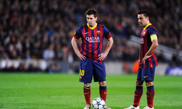 Lionel Messi and Xavi Hernández in FC Barcelona