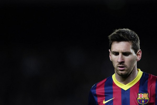 Lionel Messi distant from the game