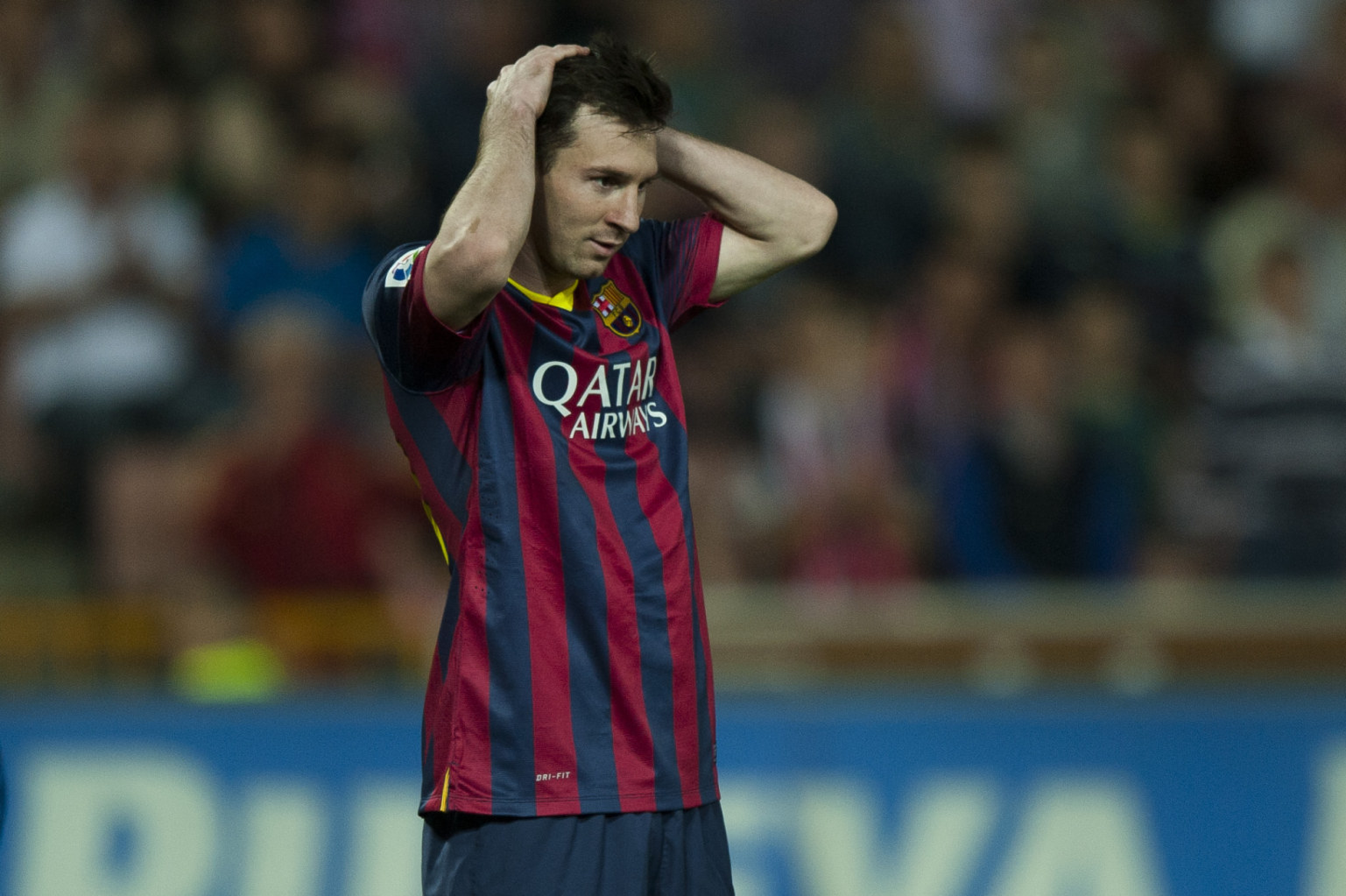 Lionel Messi not believing that Barcelona slipped again