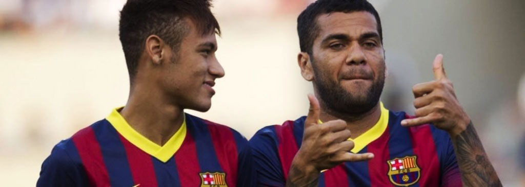 Neymar and Daniel Alves best friends in FC Barcelona