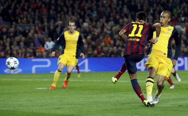 Neymar's most important goal for FC Barcelona, in the Champions League against Atletico