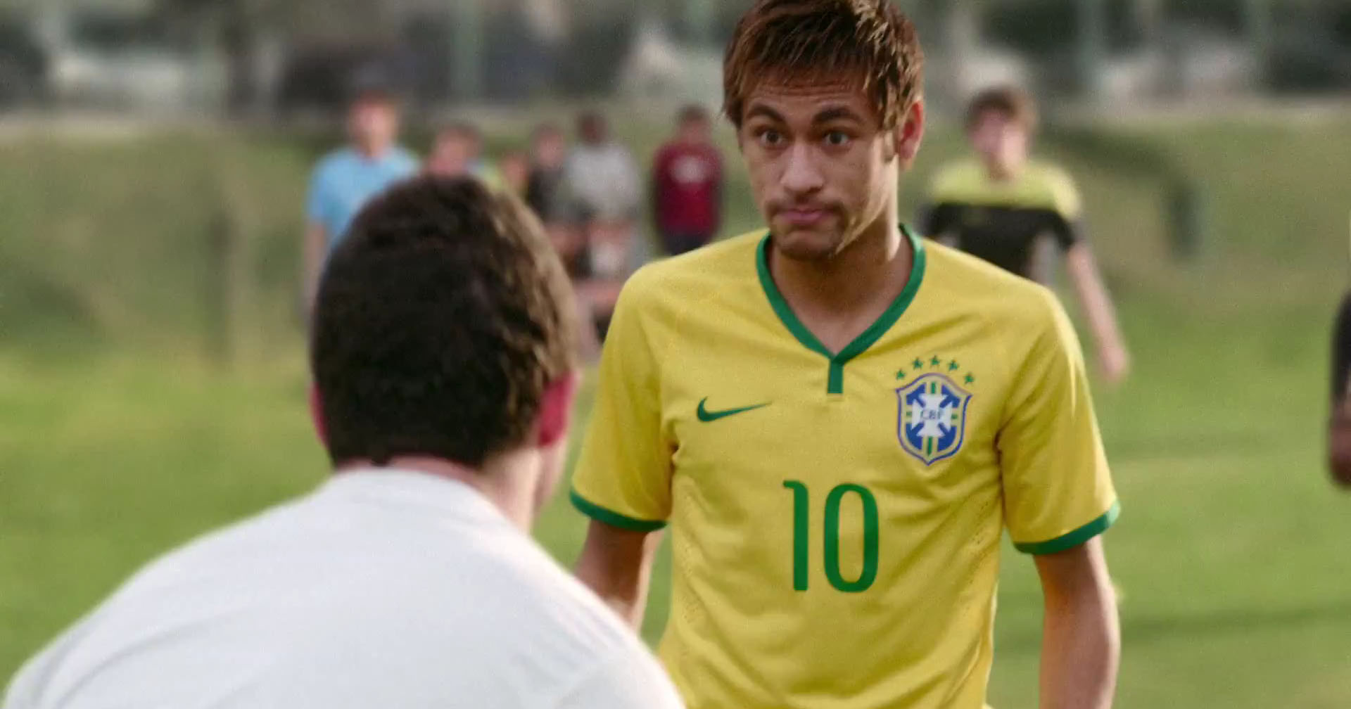 Neymar with bulging eyes in Nike's new video ad