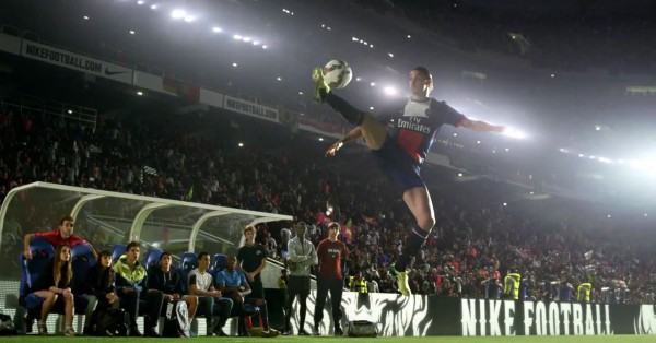 Zlatan Ibrahimovic ball control in the new Nike video ad