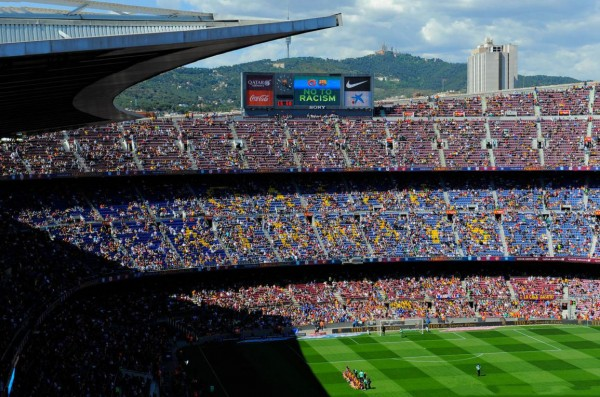The Camp Nou top roof view
