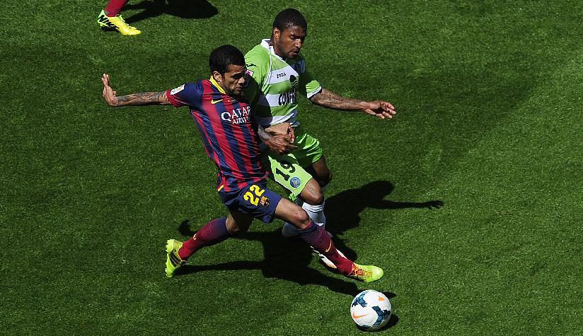 Daniel Alves in FC Barcelona, in 2014