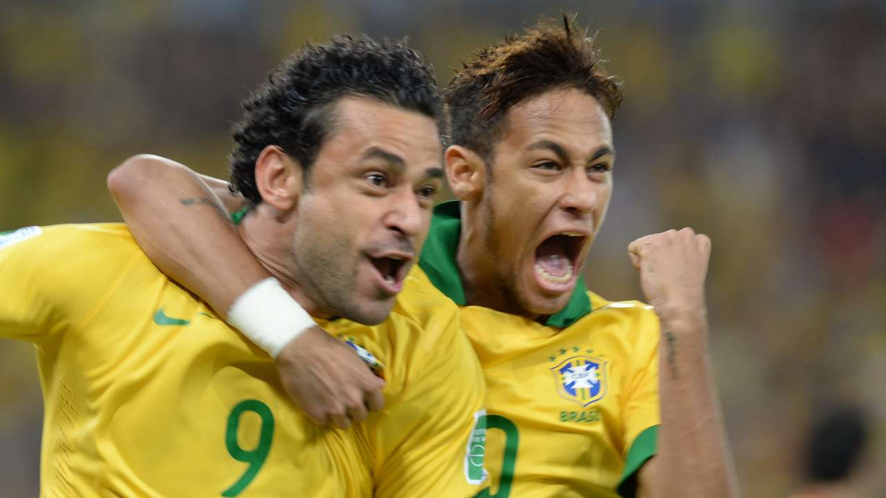 Fred and Neymar for Brazil