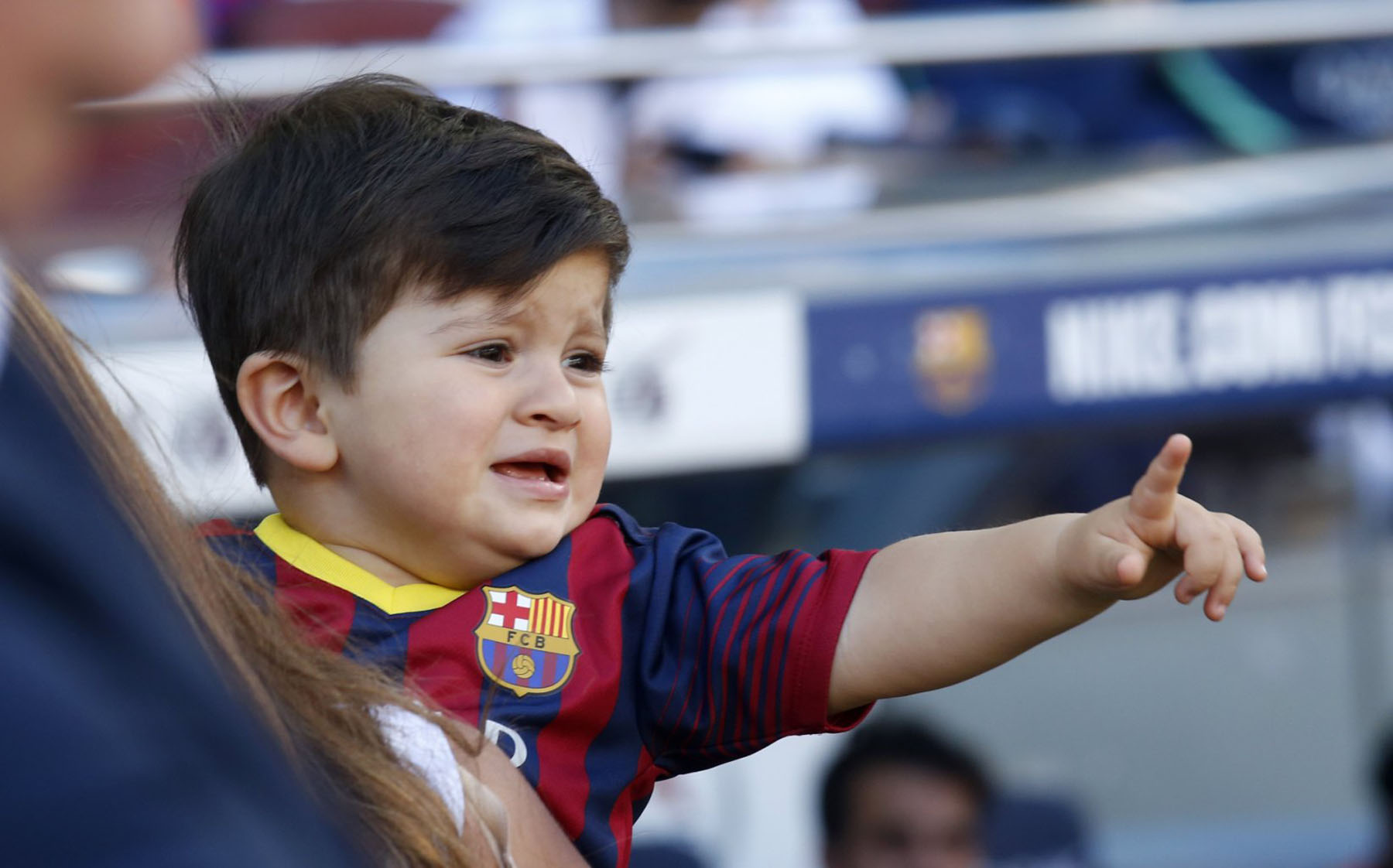 Lionel Messi's son, Thiago Messi