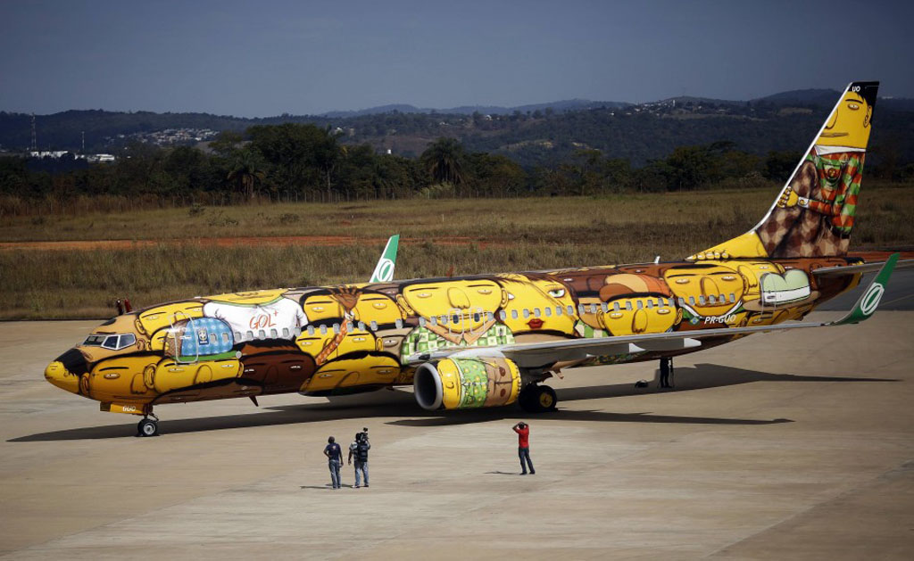 Boeing 737 Brazilian National Team airplane World Cup