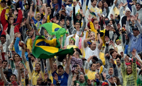 Brazil crowd in the stadium, during a friendly before the World Cup