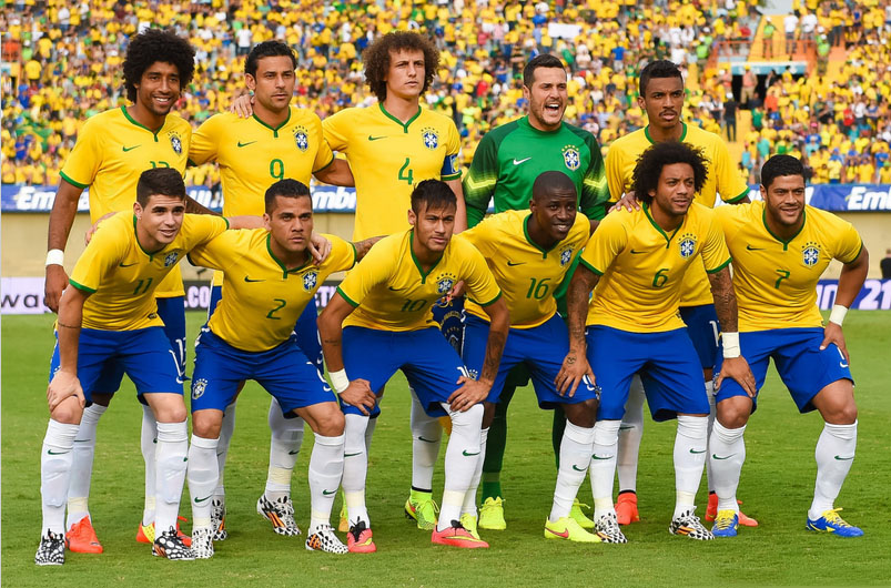 Brazil line-up against Panama, in a friendly ahead of the FIFA 2014 World Cup