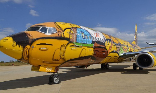 The Brazilian National Team airplane for the World Cup