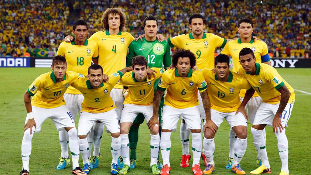 Brazil National Team line-up and starting eleven for the FIFA World Cup 2014