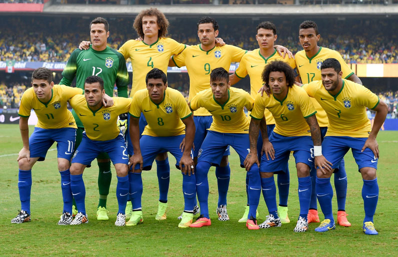 The Brazil National Team starting line-up vs Serbia