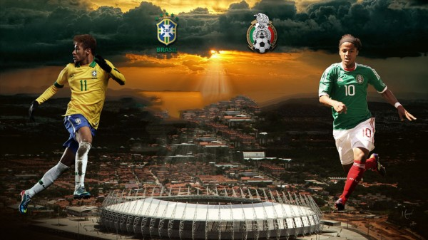 Brazil vs Mexico - 2014 FIFA World Cup wallpaper