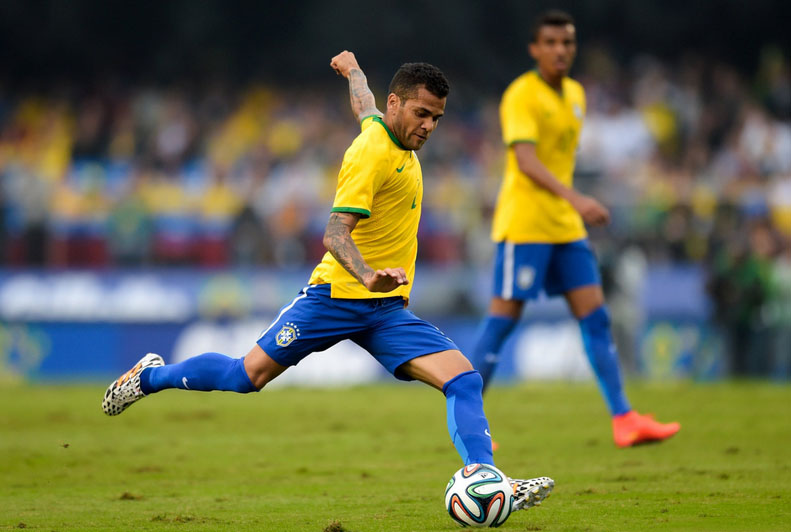 Daniel Alves - Brazil right-back for the World Cup