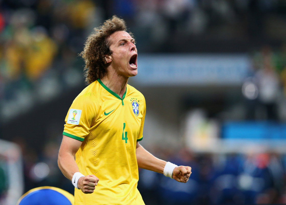 David Luiz Brazil defender in the World Cup 2014