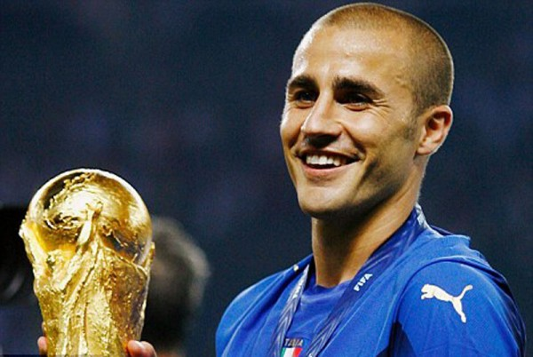 Fabio Cannavaro holding the FIFA World Cup trophy in 2006