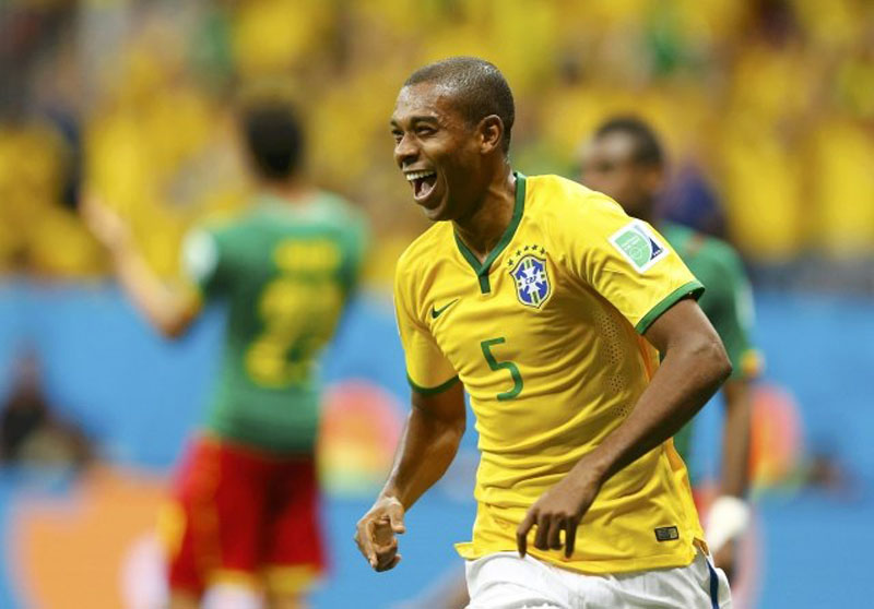 Fernandinho, Brazil's midfielder in the FIFA World Cup 2014
