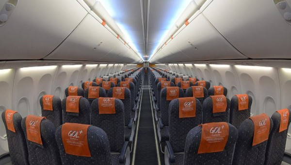 Inside view from Brazil's Team airplane