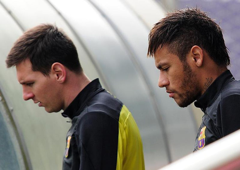 Lionel Messi and Neymar Jr