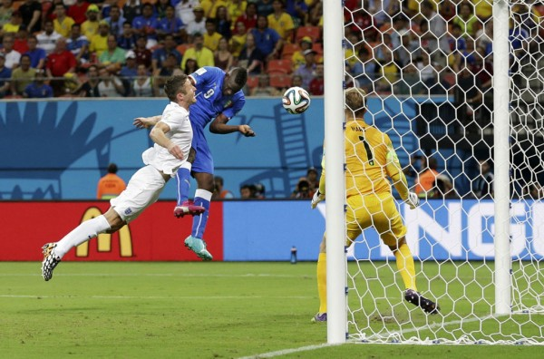 Mario Balotelli goal in Italy vs England, at the FIFA World Cup 2014
