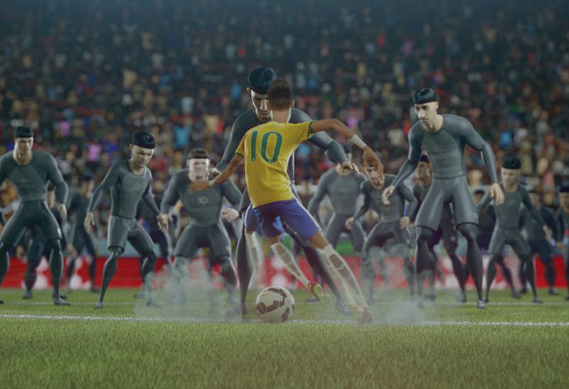 Neymar against all the robots in Nike's ad The Last Game