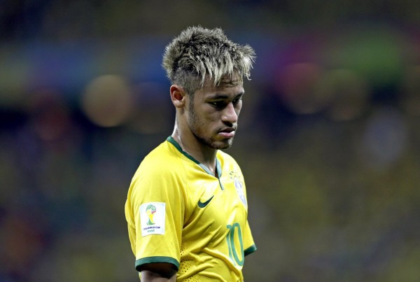 Neymar disappointed in the FIFA World Cup 2014