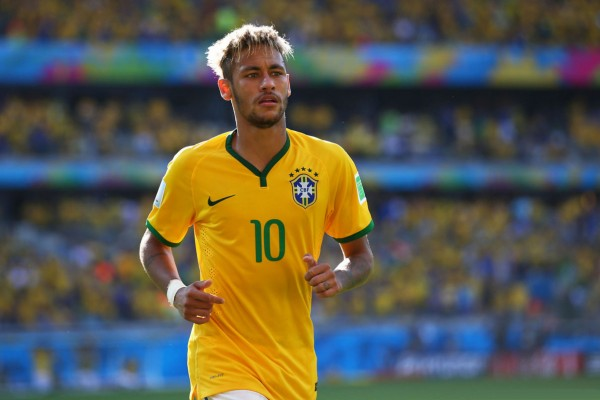 Neymar in Brazil's jersey, in the FIFA World Cup 2014
