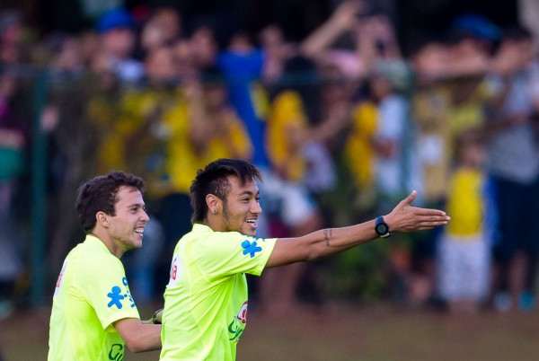 Neymar in the Brazil National Team training session