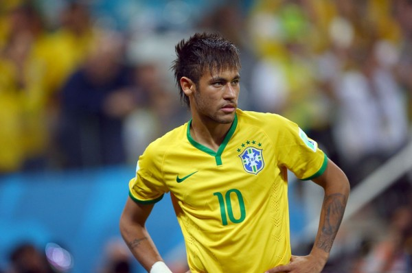Neymar in his FIFA World Cup debut for Brazil