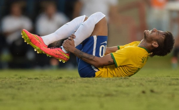 Neymar injured in Brazil
