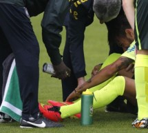 Neymar scared Brazil after almost injuring himself in training