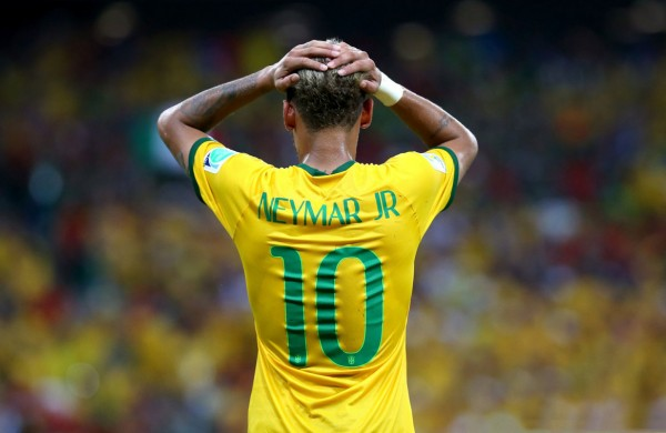 Neymar Jr, Brazil's number 10 jersey in the FIFA World Cup 2014