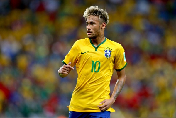 Neymar new hairstyle and look for the FIFA World Cup 2014