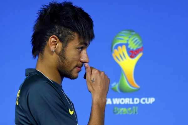 Neymar previewing the opening match in the World Cup
