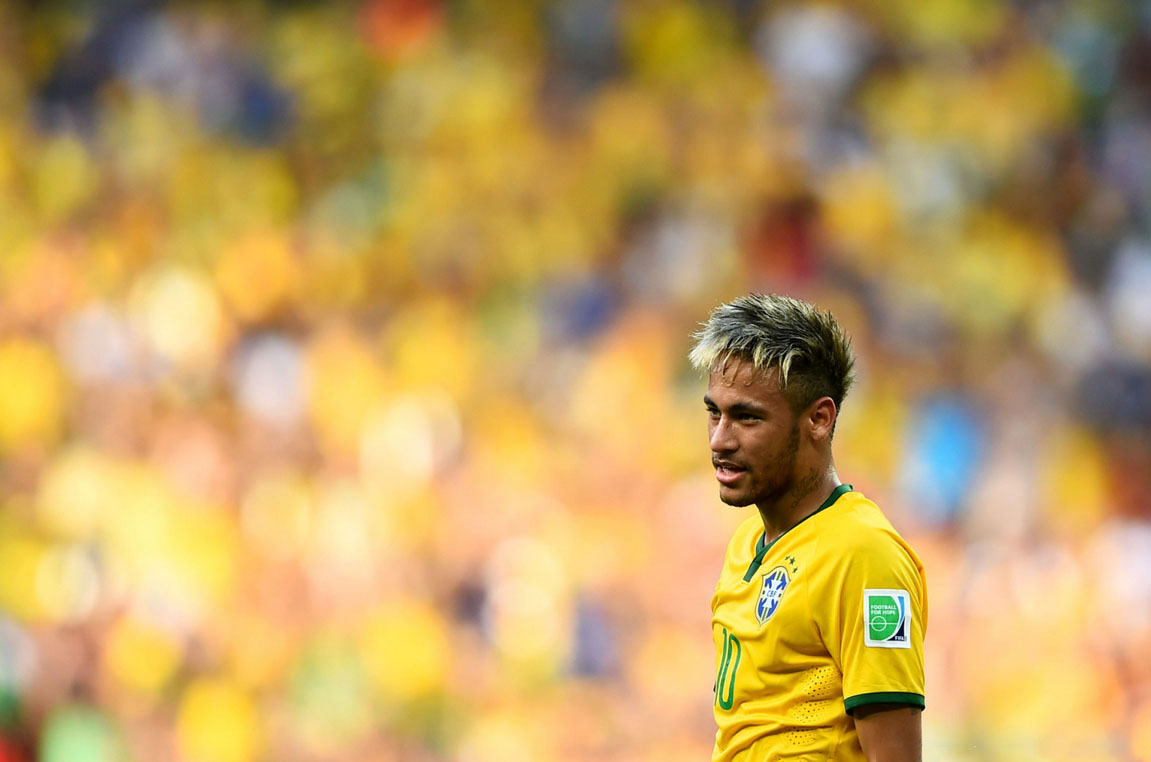 Neymar vs Mexico in the FIFA World Cup 2014