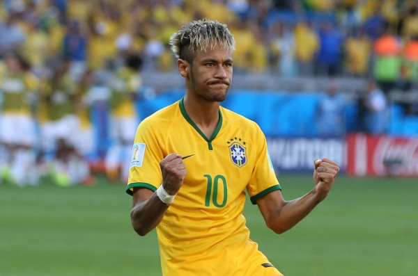Neymar wearing Brazil's number 10 jersey, in the FIFA World Cup 2014