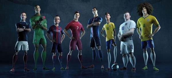 Players feeaturing in Nike's animated video ad: The Last Game