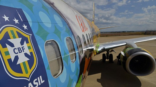 Side view from the Boeing 737 for the Brazil World Cup