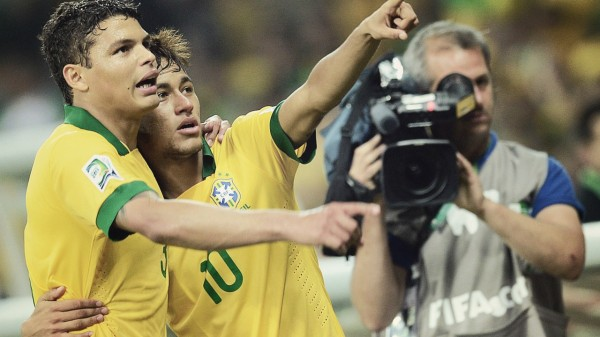 Thiago Silva and Neymar photo
